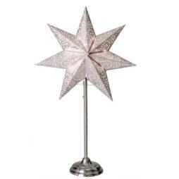Antique mini stjärna på fot vit 55cm