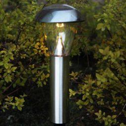 Gångbelysning solcell 54cm rostfrittstål