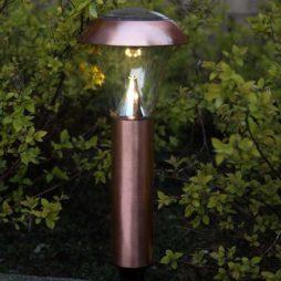 Gångbelysning solcell 54cm kopparpläterat stål