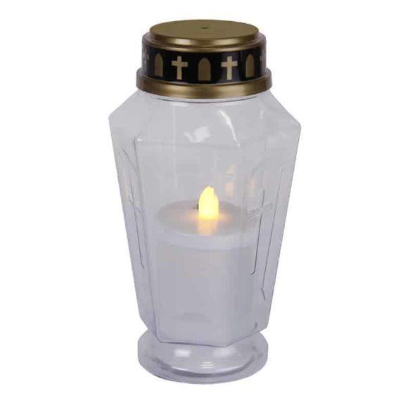 Batteridrivet gravljus i plast vit